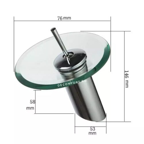 Baterie lavoar sticla – Clasic Small