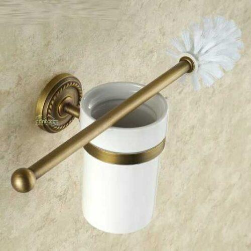 Accesorii baie bronz atichizat retro Verona – set 6 piese