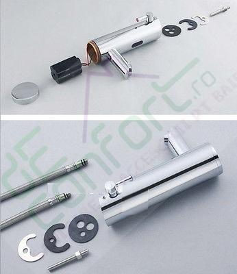Baterie automata lavoar Easy Flow reglare temperatura apa pe baterie