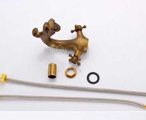 Baterie bronz antichizat Yola-Dragon montare lavoar