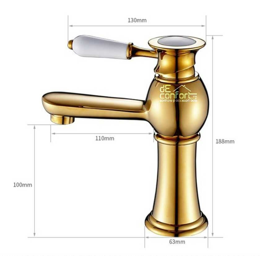 Baterie bronz Gold Luxury montare lavoar