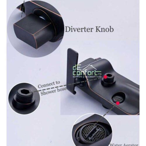 Baterie cada antichizata retro culoare neagra HOBYO dus inclus