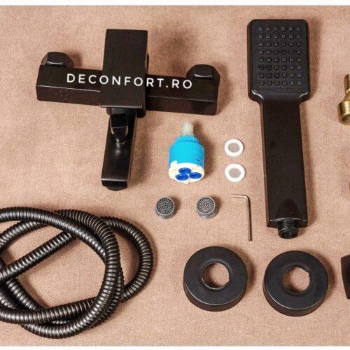 Baterie cada negru antichizat vintage Depto Dark set dus inclus