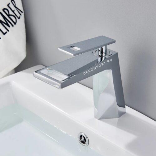 Baterie lavoar baie cromat lucios Prisma apa calda rece