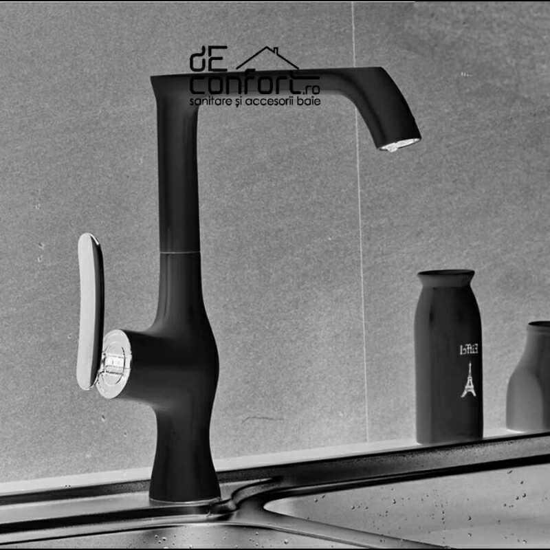 Baterie montare blat culoare negru antichizat HOBYO aspect retro