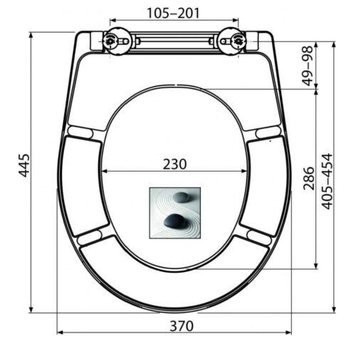 Capac wc softclose universal, duroplast antibacterian  închidere lenta