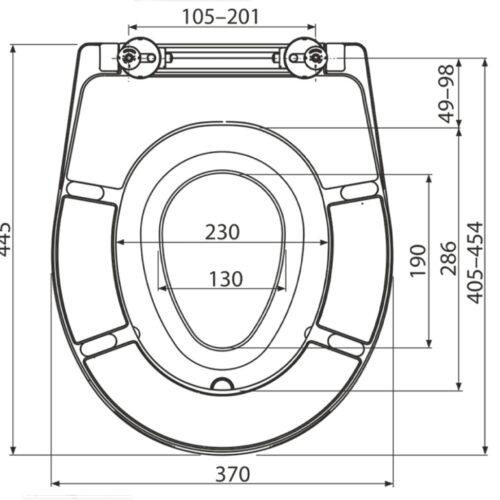 Capac wc universal duroplast antibacterian cu adaptor detasabil