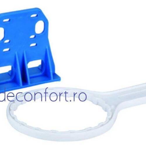 Carcasa filtru apa rece cartus bumbac 10 pahar transparent racord 1 sau 3/4