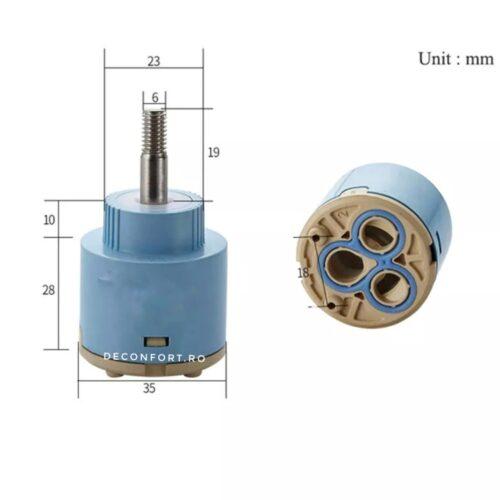 Cartus ceramic 35mm pentru bateriile tip cascada