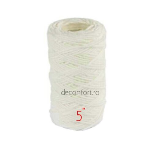 Cartus filtrant fir bumbac textil impotriva sedimentelor dimensiuni 5,7,10 inch