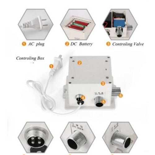 Centrala comanda – electrovalva – baterie senzor alimentare 220v sau 6v