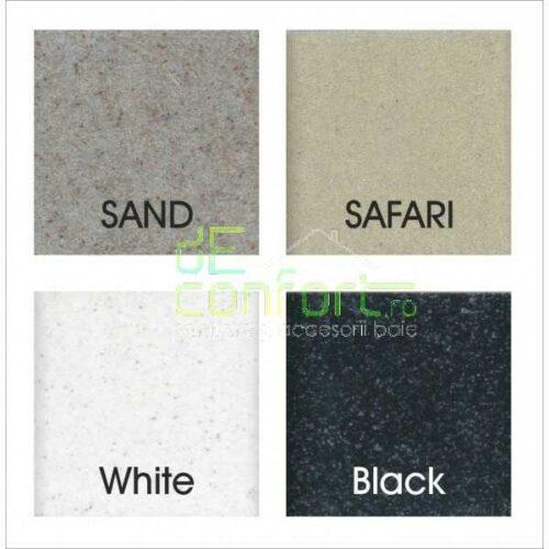 Chiuveta bucatarie patrata ISAO sand-granit compozit antibacterian antialcar