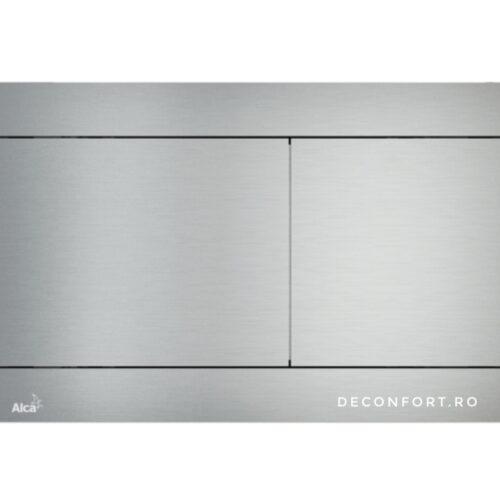 Clapeta rezervor wc incastrabil ALUNOX aluminiu mat slim doua trepte