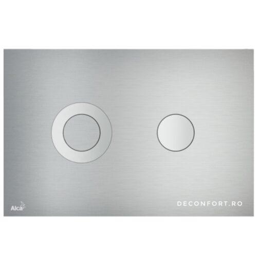 Clapeta rezervor wc incastrabil TURN aluminiu mat slim doua trepte