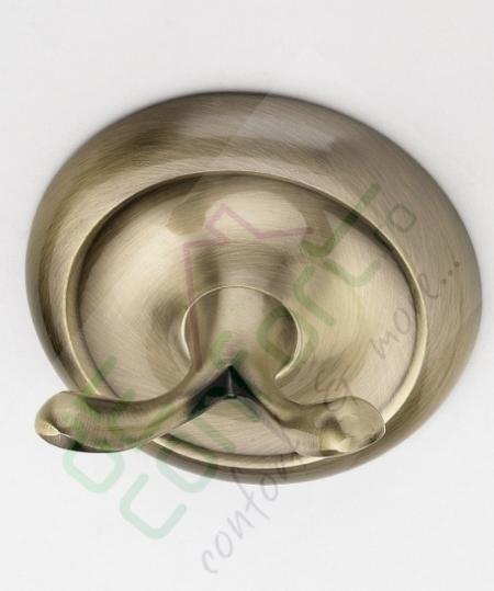 Cuier bronz retro dublu Aurelia