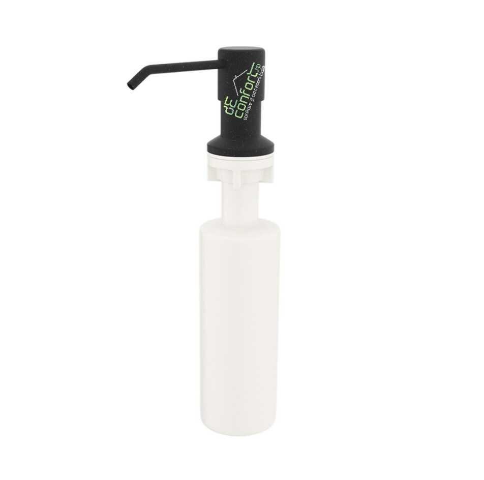 Dispenser incastrabil negru chiuveta bucatarie pentru detergent vase