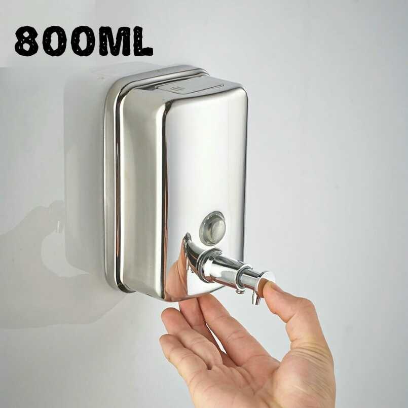 Dispenser sapun lichid 800ml cromat lucios fixare perete