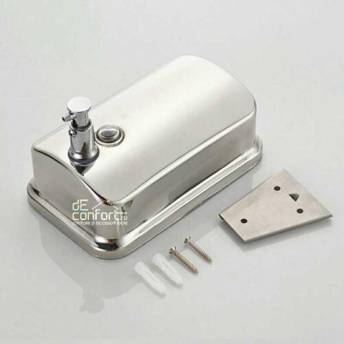 Dispenser sapun lichid capacitate mare 1000ml cromat lucios