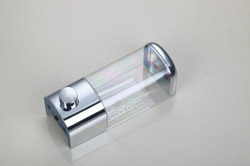 Dispenser sapun lichid, gel dus plastic cromat 400ml