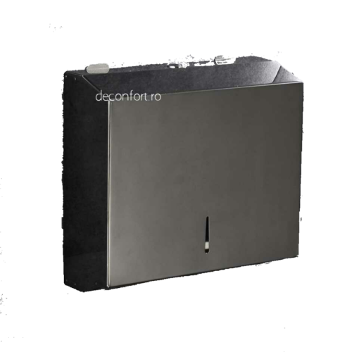 Dispenser servetele hartie negru metalic antivandalism Milano