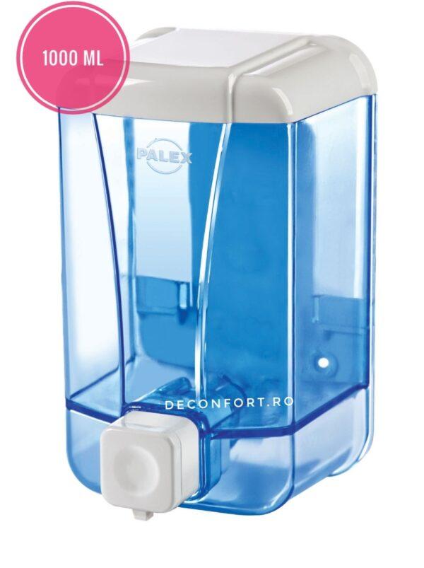 Dozator detergent gel dezinfectant 1000ml PALEX pereti transparenti
