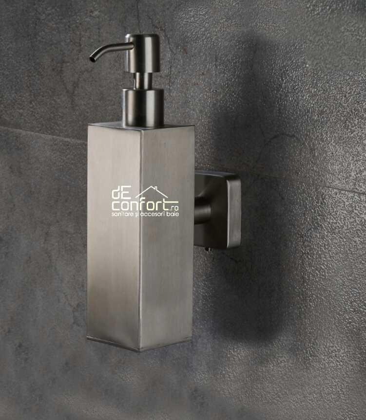 Dozator sapun lichid cromat 500ml Sidef Rectangular metalic aspect periat mat