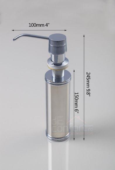 Dozator sapun lichid incastrabil chiuveta sau blat