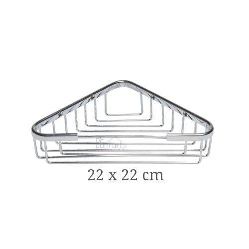 Etajera baie colt cromata 18×18 cm 22x22cm