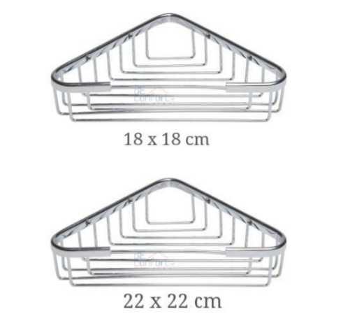 Etajera baie colt cromata 18x18 cm 22x22cm