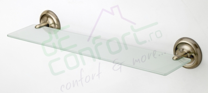 Etajera, polita sticla bronz retro 60cm Aurelia