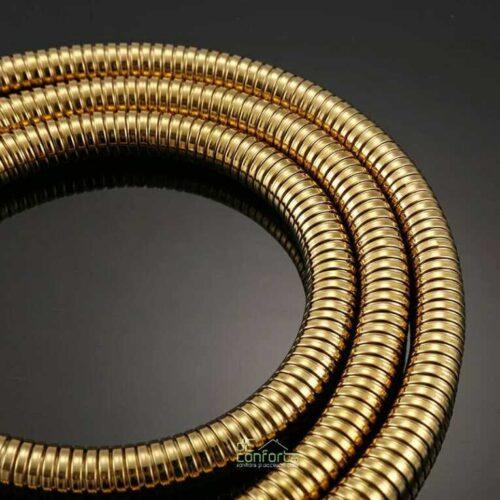 Furtun dus  antichizat 150 cm Gold auriu invelis metalic