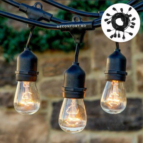 Ghirlanda luminoasa, cablu iluminat led exterior fasung E27 curgatoare