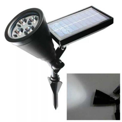 Lampa  led SPOT incarcacator solar si flux lumina dirijabil