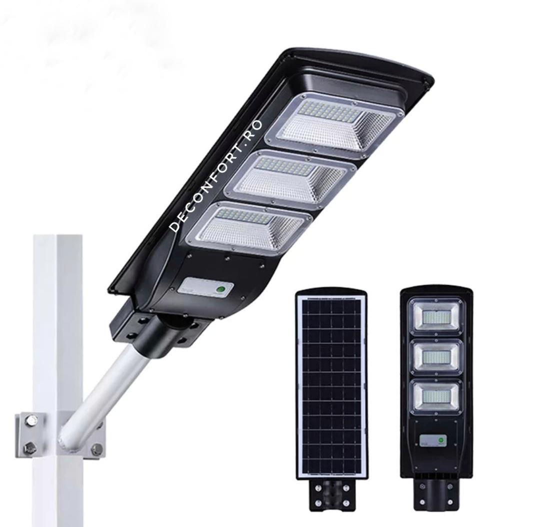 Lampa stradala LED 90w panou solar incarcare cu senzor lumina
