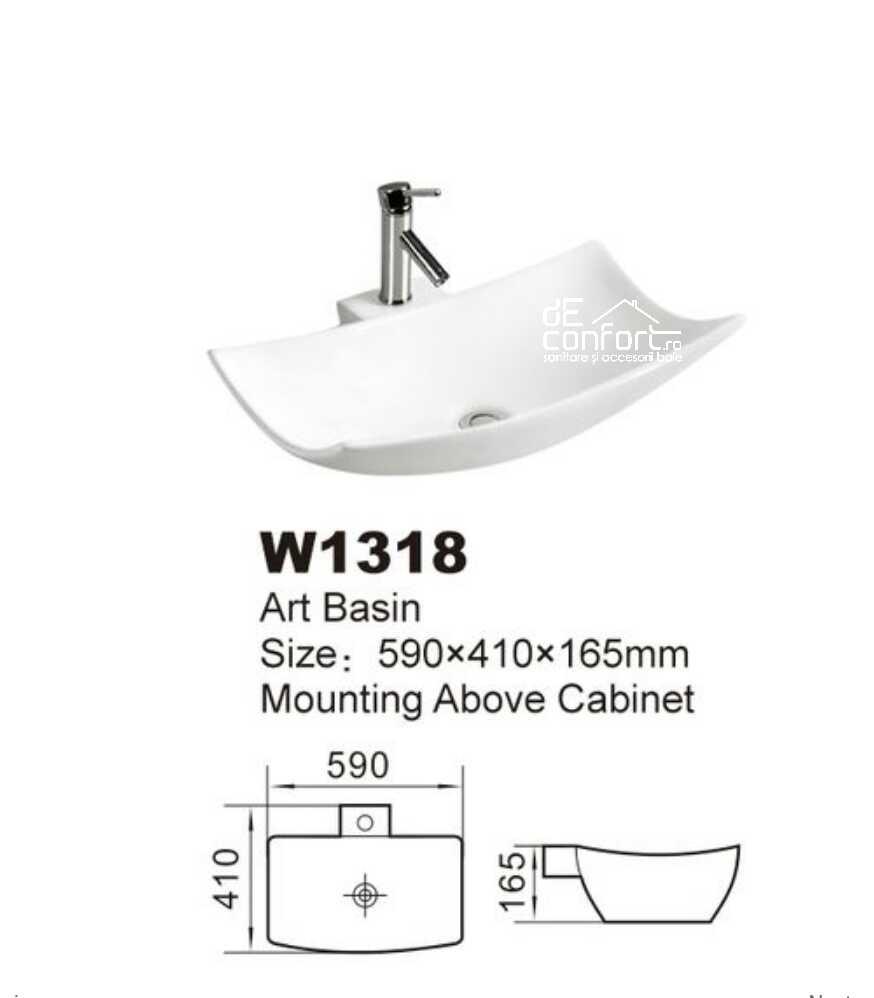 Lavoar baie ceramica alba montare blat suport bateria chiuveta Vektor