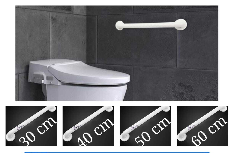 Maner cada dizabilitati culoare alba 30-40-50-60cm montare perete baie