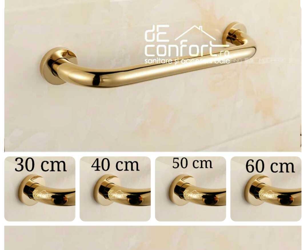 Maner cada sustinere persoane dizabilitati culoare auriu 30-40-50-60cm