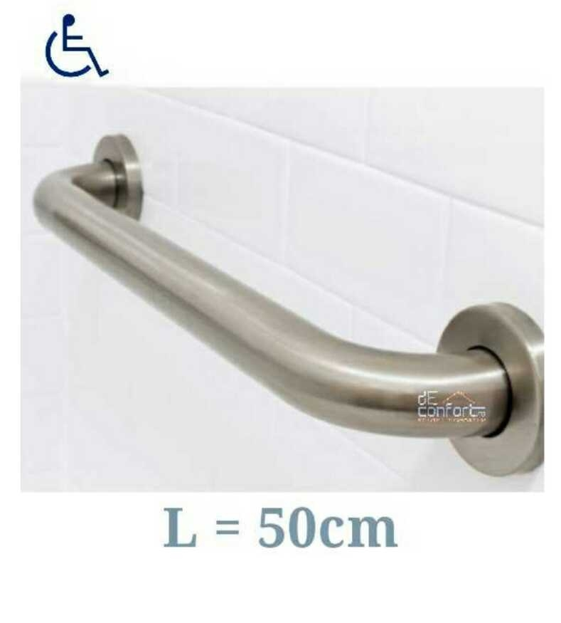 Maner cromat sprijin persoane dizabilitati 50cm fixare perete