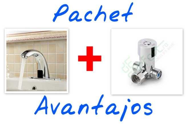 Pachet - baterie senzor lavoar Europe + robinet amestec