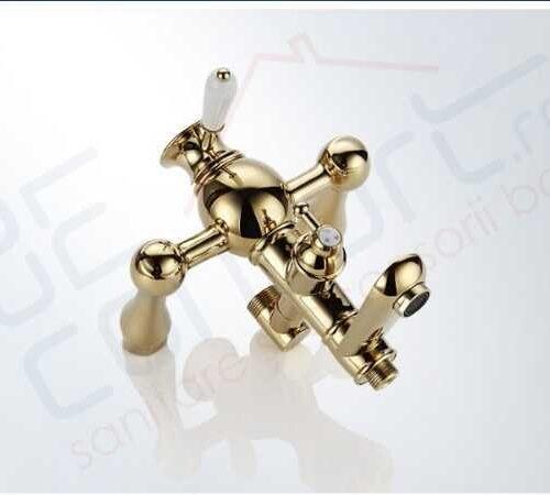 Panou dus auriu Borno Gold Luxury trei functii dus cu furtun si para incluse