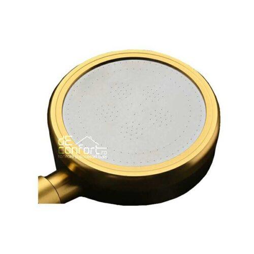 Para dus aluminiu culoare negru-auriu cu microperforatii AluSense