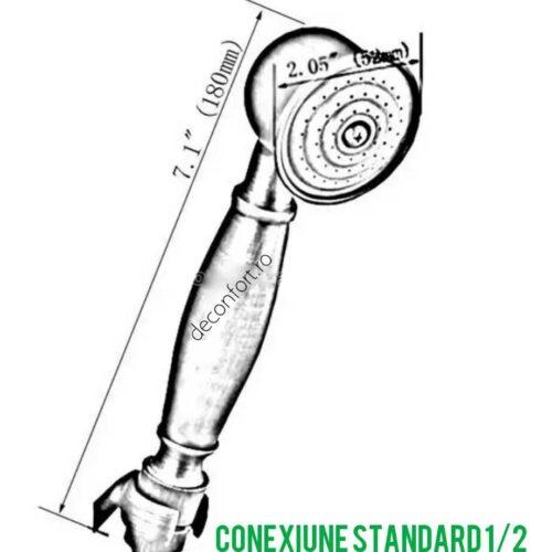 Para dus bronz antichizat alama aspect retro conectare 1/2 Unique Bronze