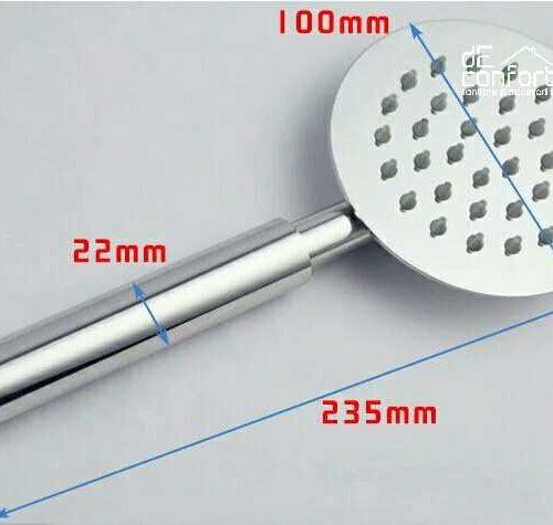 Para dus inox periat aspect slim duze silicon rotunda metalica