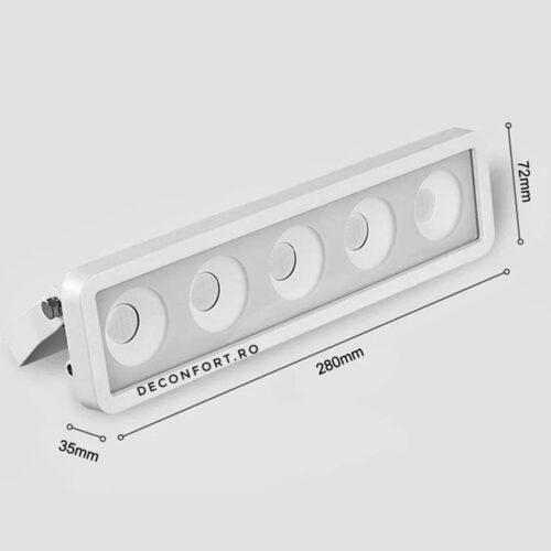 Proiector led COB 50w liniar iluminat exterior cu releu alimentare 220V inclus