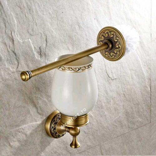 Set accesorii baie PRATO atichizat retro pahar ceramica 6 piese