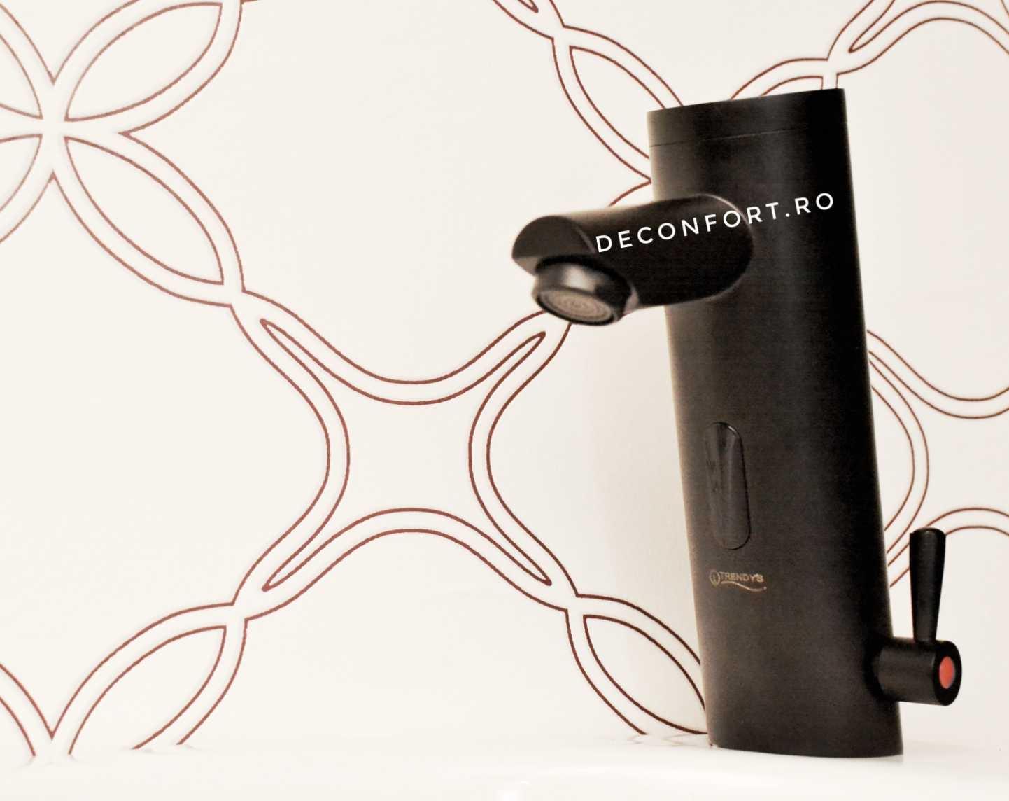 Sezor lavoar automat negru antichizat EasyFlow 6V reglare temperatura apa