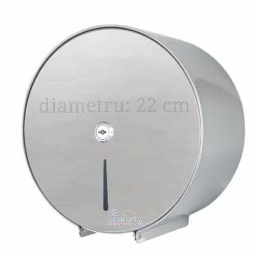 Suport dispenser cromat rola hartie mini jumbo