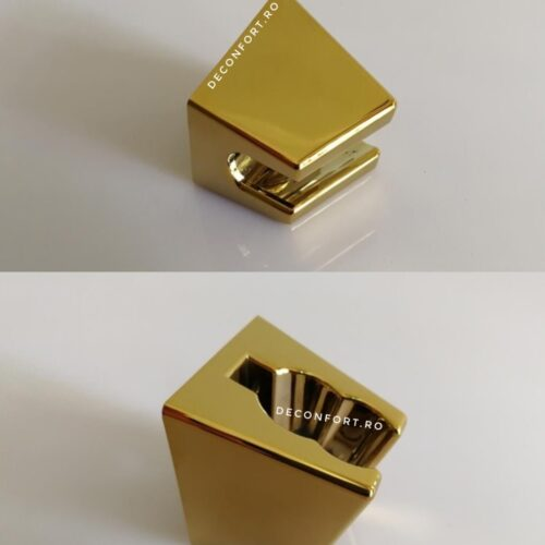 Suport fix AURIU pentru para dus Gold cu doua pozitii fixare perete cu dibluri