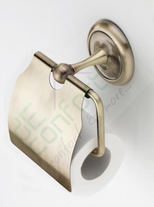 Suport hartie igienica bronz retro Aurelia