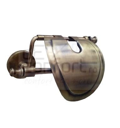 Suport hartie igienica bronz retro ROMA